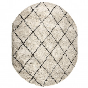 Covor oval din microfibra Rox 200 x 300 cm alb