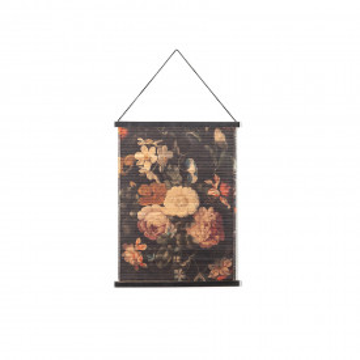 Decoratiune de perete din bambus Miyagi flowers small