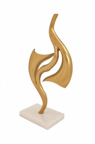 Decoratiune din aluminiu Clue, auriu / alb
