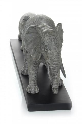Decoratiune Elephant Family, gri