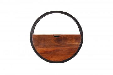 Etajera din lemn de salcam si fier Panama 50 x 20 cm