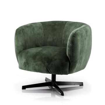 Fotoliu rotativ tapițat Jaimey verde