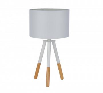 Lampa decorativa din lemn/material THIS & THAT alba, un bec