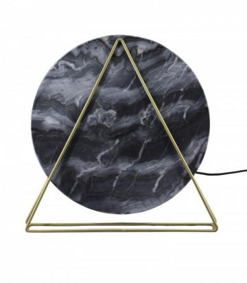 Lampa decorativa din marmura/fier Carmie neagra, un bec