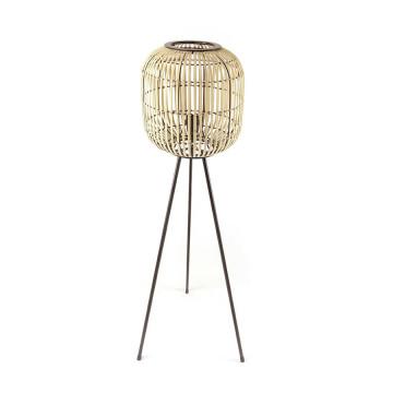 Lampadar din bambus Sunlight small bej, un bec
