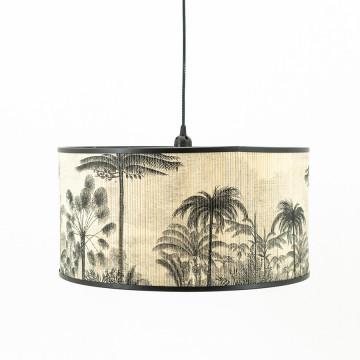 Lustra din bambus Morita small neagra/natural, un bec