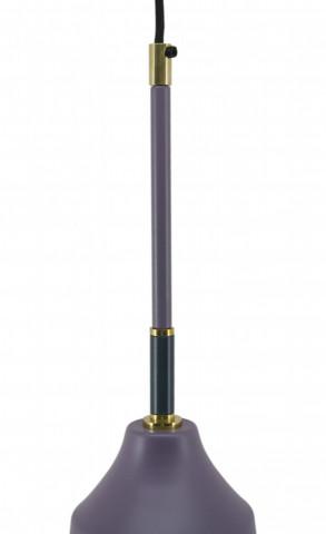 Lustra din fier/cupru Caja violet, un bec