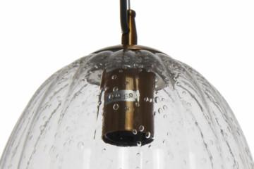 Lustra din sticla/fier Virgina transparenta, un bec