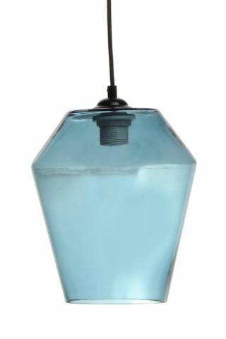 Lustra din sticla Planta albastra, un bec