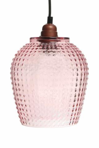 Lustra din sticla Riva roz, un bec