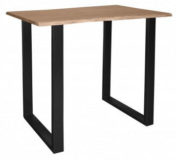 Masa de bar dreptunghiulara din lemn de salcam Tables&Benches 120x80x110 cm maro