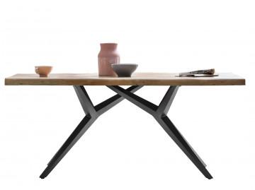 Masa dreptunghiula cu blat din lemn de mango Tables&Co 160x90 cm maro/negru