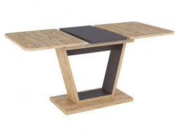 Masa dreptunghiulara extensibila din lemn Nigel 120 x 80 x 76 cm maro / negru