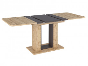 Masa dreptunghiulara extensibila din lemn Twins 140 x 80 cm maro