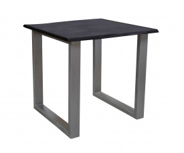 Masa patrata cu blat din lemn de salcam Tables&Benches 80x80x76 cm maro inchis/gri