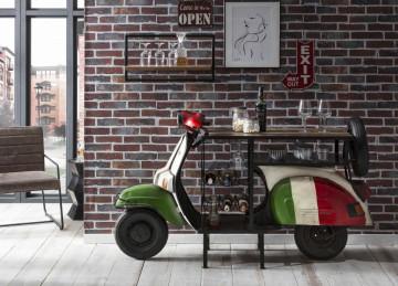 Masa pentru vin Italy This & That, depozitare pentru 6 sticle