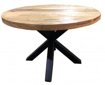 Masa rotunda cu blat din lemn de mango Tables&Co 120x120 cm