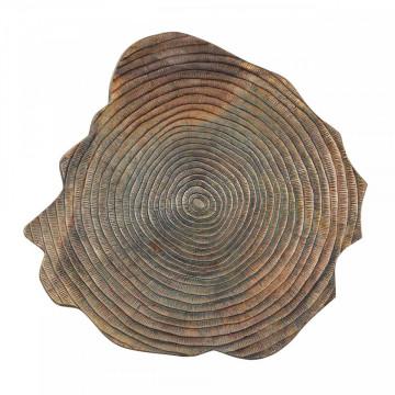 Masuta de cafea cu forma neregulata din aluminiu Sherman 46x90x90 cm maro