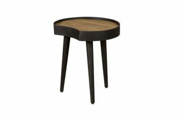 Masuta de cafea cu forma neregulata din lemn si metal 50x47x58 cm maro/negru