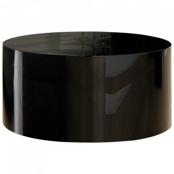 Masuta de cafea rotunda 60 cm neagra