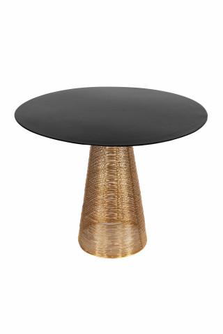 Masuta de cafea rotunda din metal Scotch 20x20x46,5 cm neagra