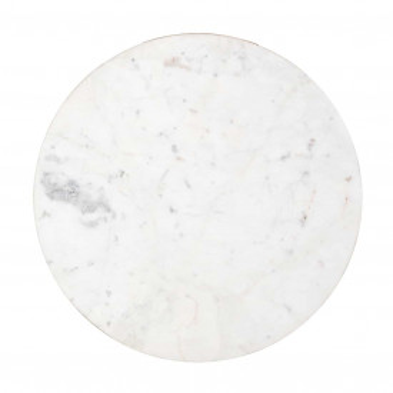 Masuta de cafea rotunda din piatra si aluminiu Jackson 56x52,5x52,5 cm auriu/alb