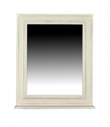 Oglinda dreptunghiulara cu rama din lemn/MDF alba TOLEDO, 68 x 10 x 79 cm