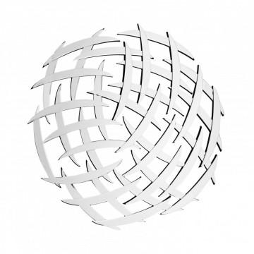 Oglinda rotunda Athene Argintiu, 2cm (L / D) x 80cm (l) x 80cm (H)