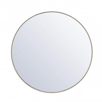 Oglinda rotunda cu rama aurie Immense 120 cm