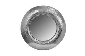 Oglindă rotunda cu rama din fier argintie Duke 75x75x9 cm