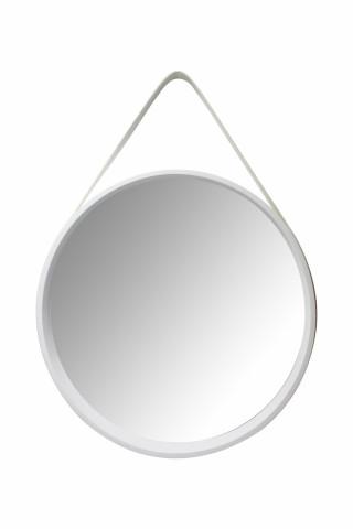 Oglinda rotunda cu rama din MDF alba Ultima, 3,5-7,5cm (L / D) x 49,5cm (W) x 49,5cm (H)