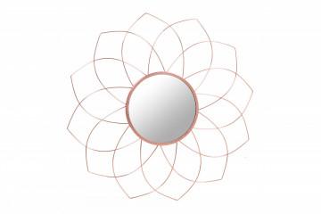 Oglinda rotunda cu rama din metal cupru Impulso, 2cm (L / D) x 79.5cm (W) x 79.5cm (H)