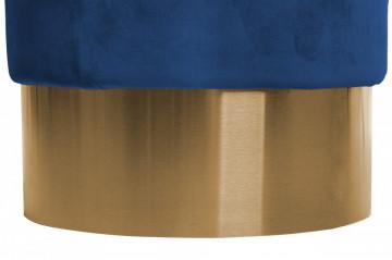 Puf/ Taburet tapitat Nano albastru inchis ignifug
