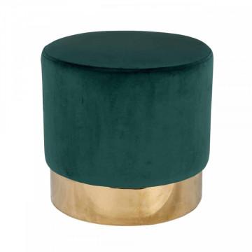 Puf tapitat Lilou verde