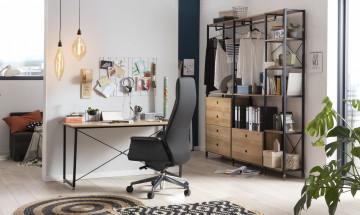 Scaun birou rotativ din imitatie de piele negru