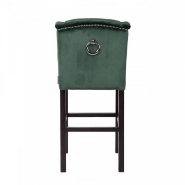 Scaun de bar tapițat Daisy verde