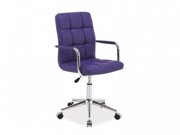 Scaun de birou din piele ecologica Q22 violet