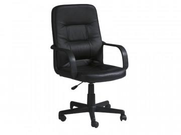 Scaun de birou din piele ecologica Q84 negru