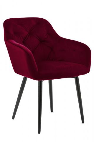 Scaun din catifea rosu
