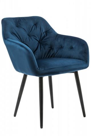 Scaun tapitat Fran albastru