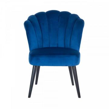 Scaun tapitat Morgan albastru