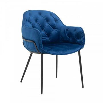 Scaun tapitat Nomi albastru