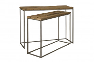 Set 2 console din lemn 110x35x83 cm / 100x32x73 cm