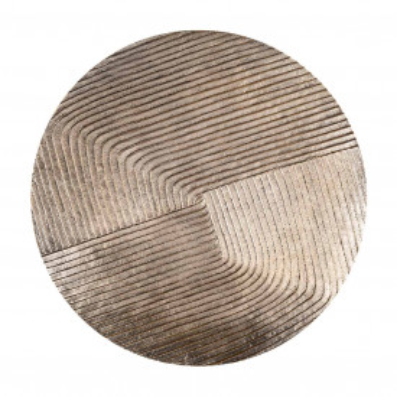 Set 2 masute de cafea rotunde din metal Lohan 60x42x42 cm aurii