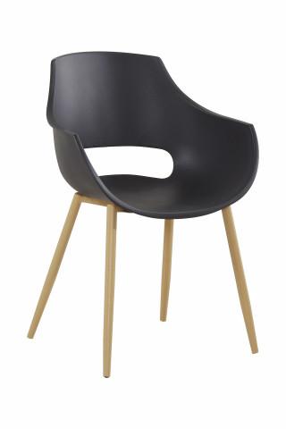 Set 2 scaune Alice negre