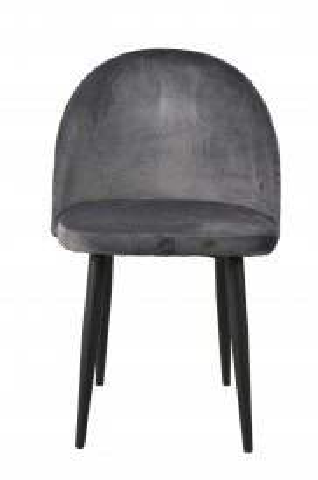Set 2 scaune catifea Sit&Chairs gri inchis