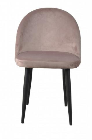 Set 2 scaune catifea Sit&Chairs roz pal
