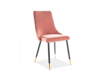 Set 2 scaune din catifea Piano roz