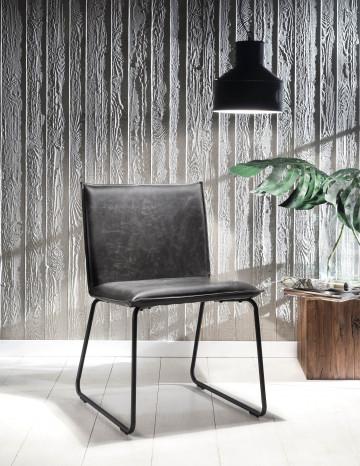 Set 2 scaune din piele artificiala Sit&Chairs gri