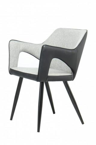 Set 2 scaune din piele sintetica Palina gri